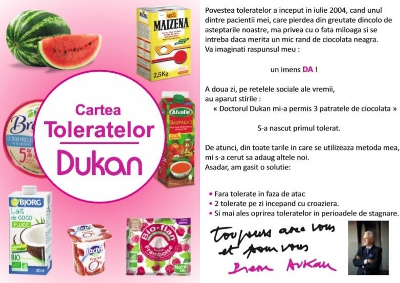 Alimente Tolerate in Dieta Dukan_actualizare septembrie 2018
