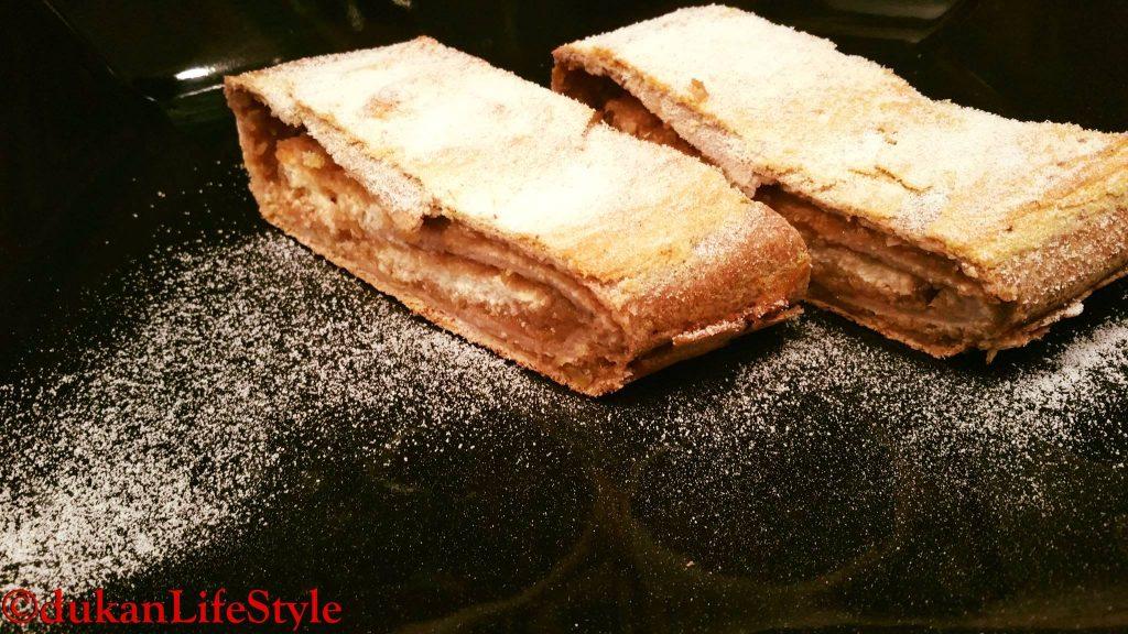 STRUDEL (Fara faina alba/ Sugar free/ Low carb/ Low fat/ Gluten Free)