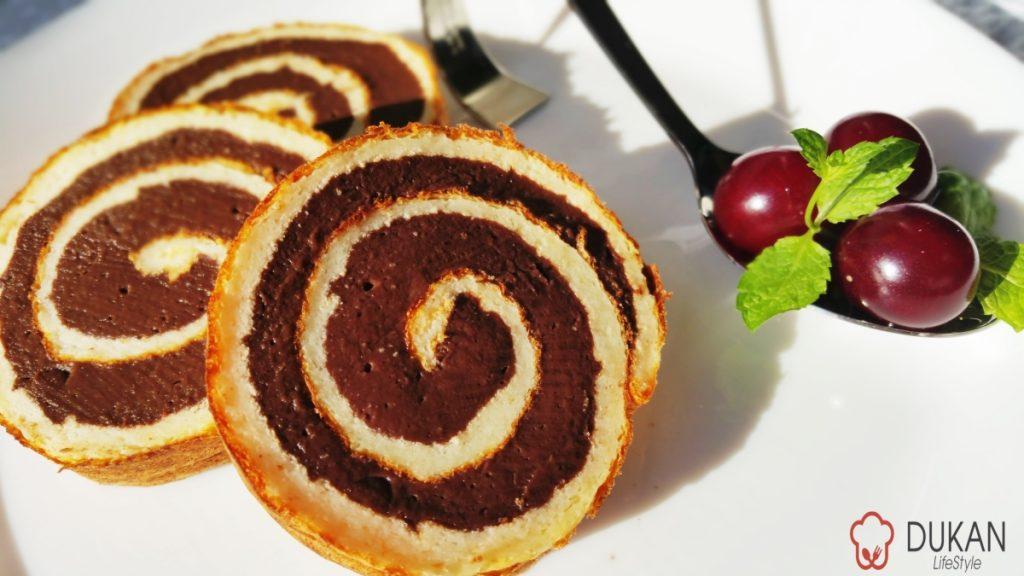 RULADA cu CREMA de cacao (Fara faina alba/ Sugar free/ Low carb/ Low fat/ Gluten free)