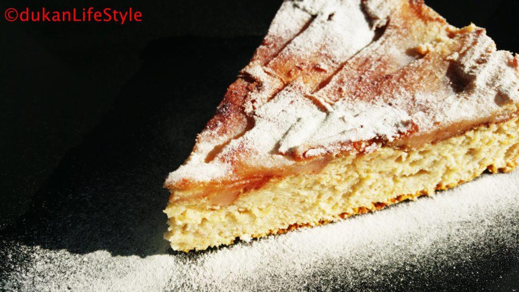 PRAJITURA rasturnata cu MERE/RUBARBA (Fara faina alba/ Sugar free/ Low carb/ Low fat)
