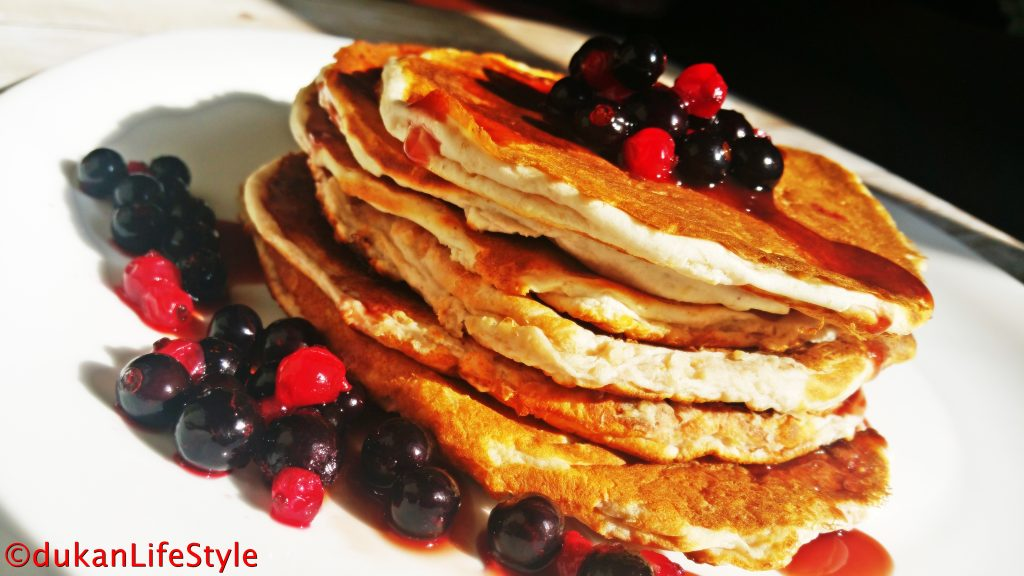 PANCAKES (Fara faina alba/ Sugar free/ Low carb/ Low fat)
