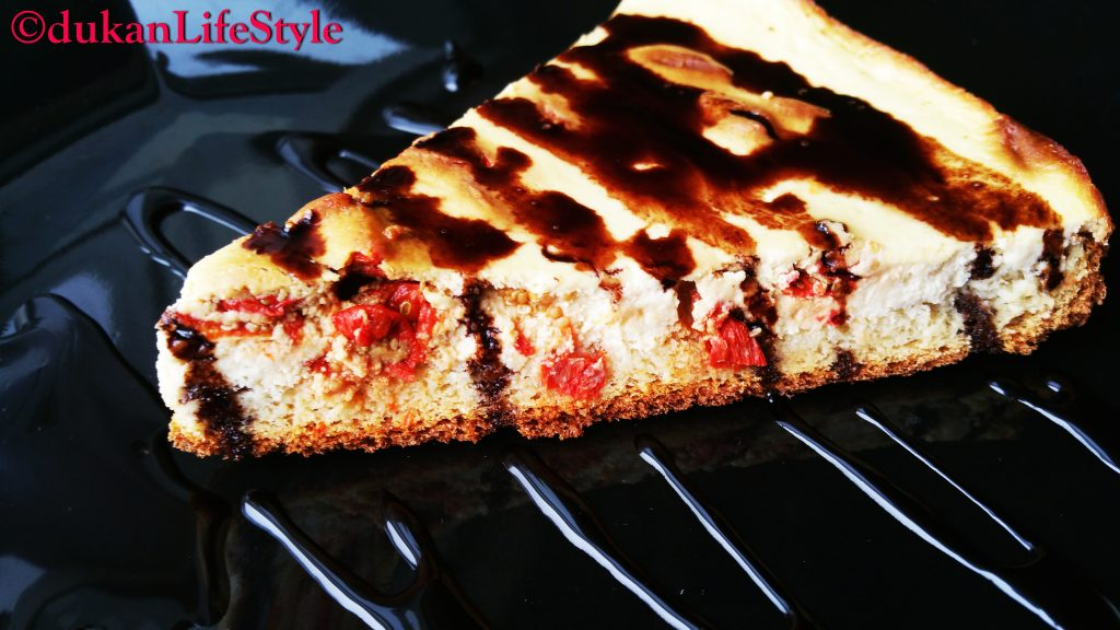 CHEESECAKE cu GOJI (Fara Faina Alba / Sugar free/ Low carb/ Low fat/ Gluten free)