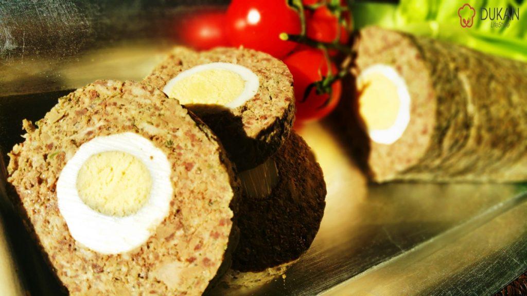 RULADA din DROB cu oua (Low carb/ Low fat)