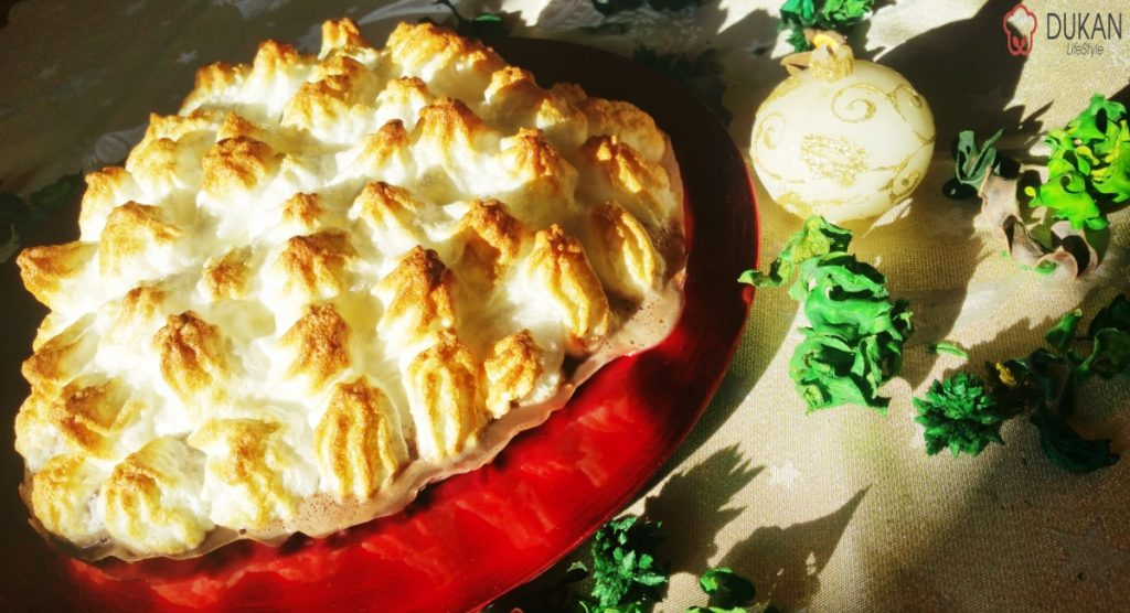 Baked Alaska (Sugar free/ Low carb/ Low fat/ Gluten free)