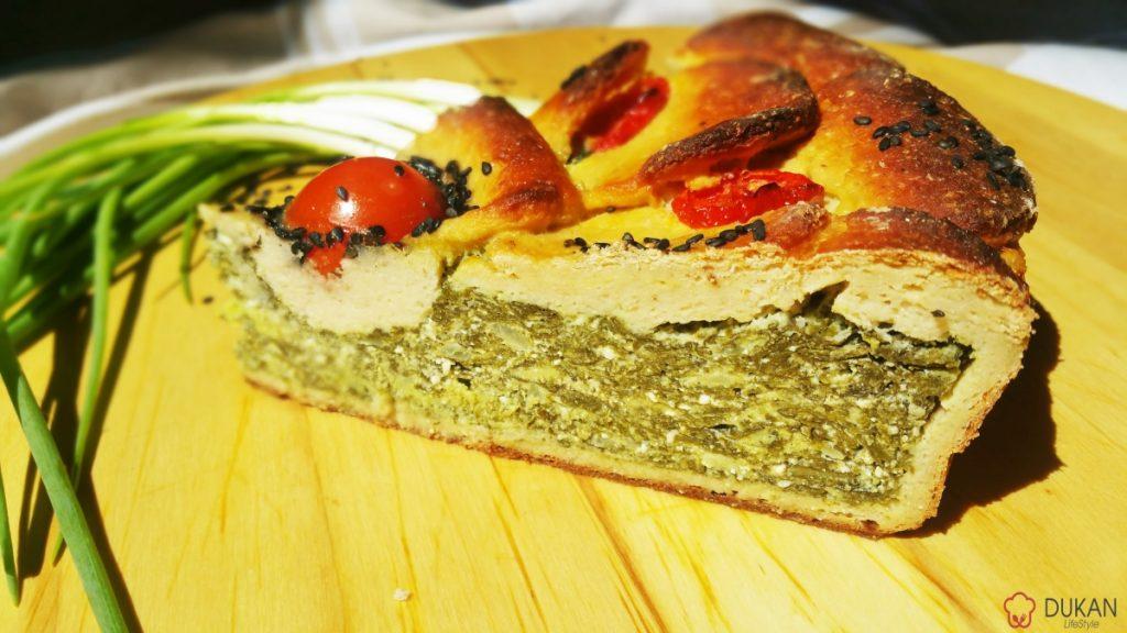 TARTA cu SPANAC si BRANZA (Fara faina alba/ Low carb/ Low fat/ Gluten free)