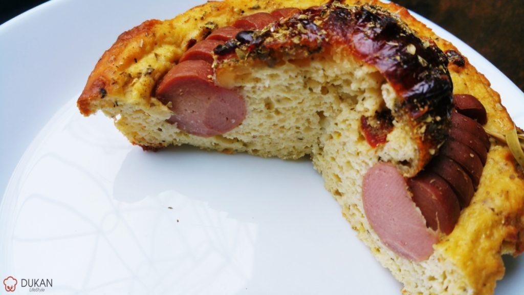 TARTE cu CRENVURST (Fara faina alba/ Low carb/ Low fat/ Gluten free)