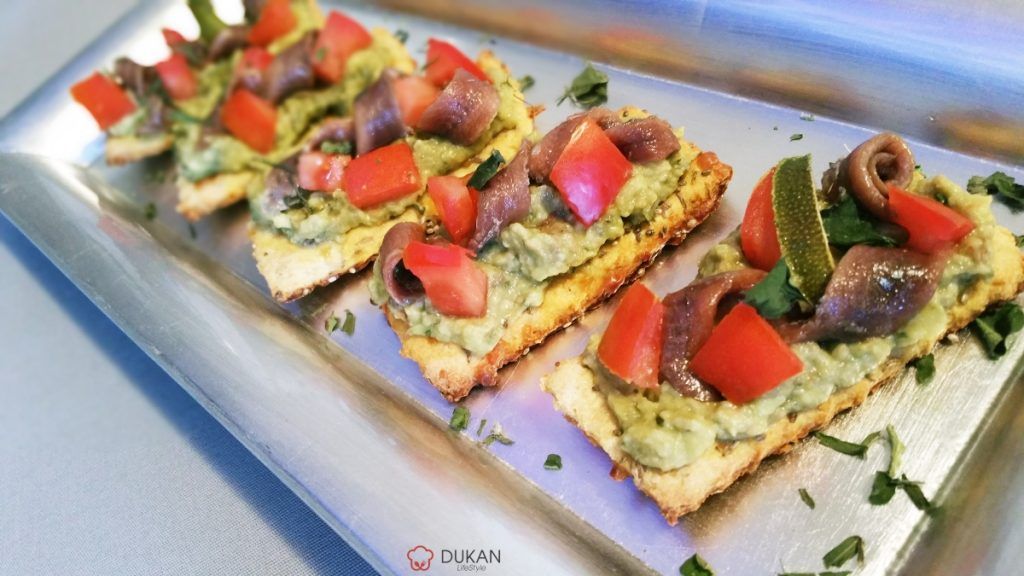 CANAPE's cu AVOCADO si ANSOA (Fara faina alba/ Low carb/ Low fat)