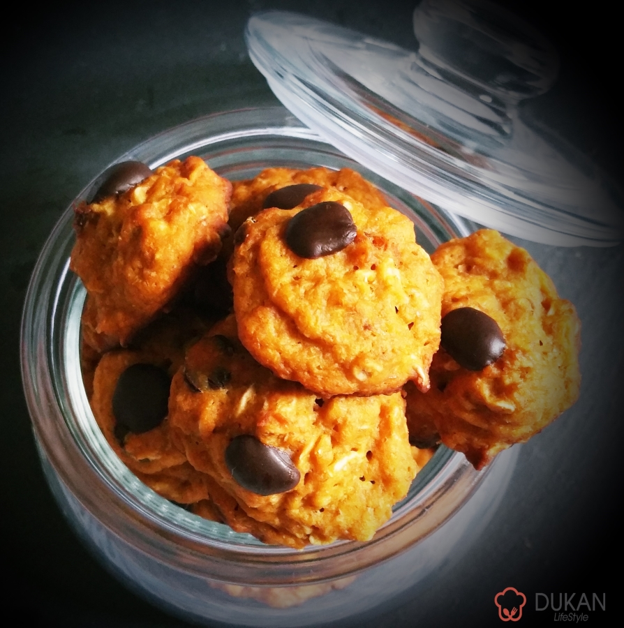 COOKIES cu GEM si CIOCOLATA (Fara faina alba/ Sugar free/ Low carb/ Low fat)