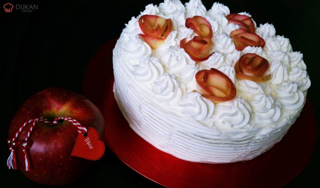 TORT de 🍎ărțișor (Fara faina alba/ Sugar free/ Low carb/ Low fat/ Gluten free)