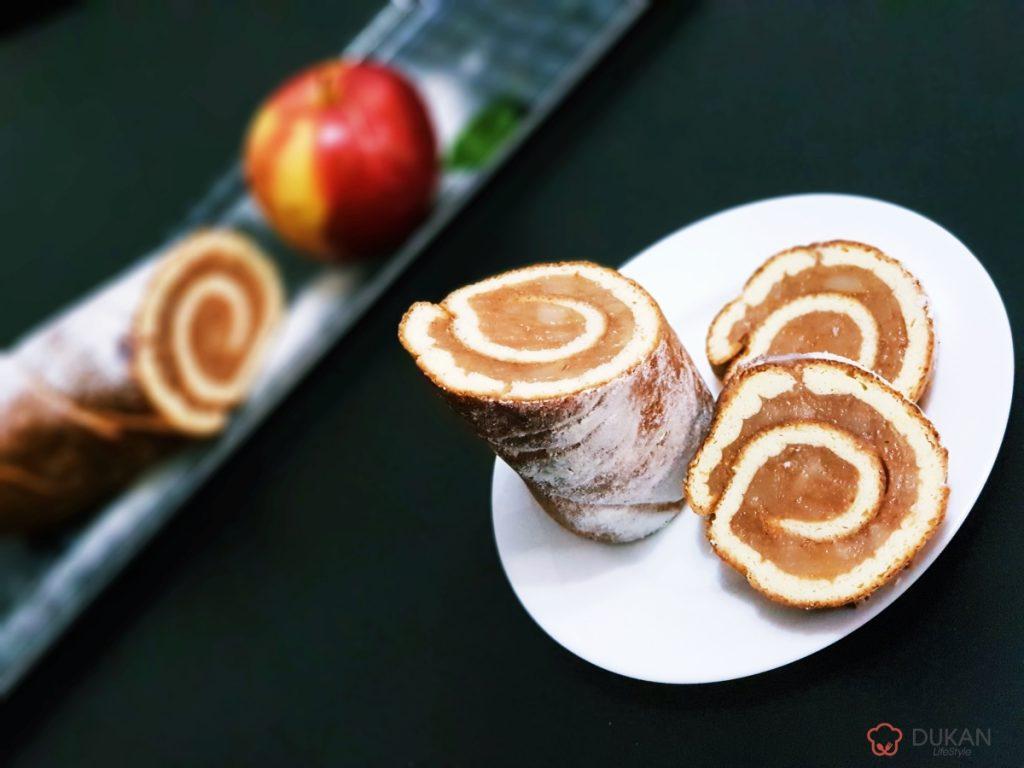RULADA cu MERE si gust de CARAMEL (Fara faina alba/ Sugar free/ Low carb/ Low fat/ Gluten free)