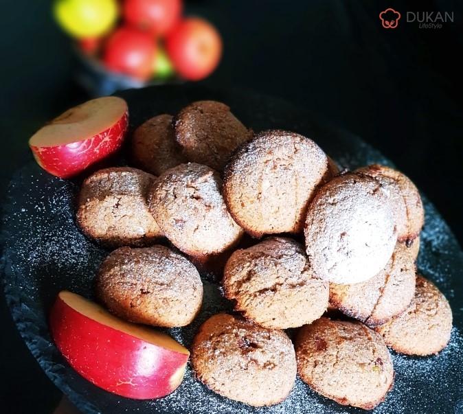 BISCUITI fragezi cu MERE (Fara faina alba/ Sugar free/ Low carb/ Low fat/ Gluten free)