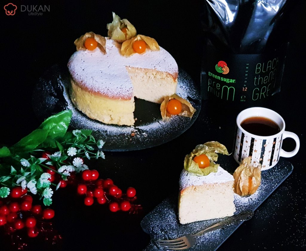 Japanese Souffle Cheesecake (Fara faina alba/ Sugar free/ Low carb/ Low fat)