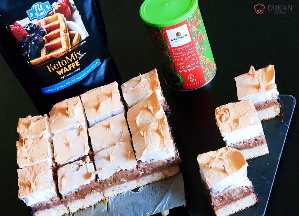 PRAJITURA cu MERE si BEZEA (Fara faina alba/ Sugar free/ Low carb/ Low fat/ Gluten free)